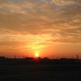 綺麗な朝陽は長く続かない、、、